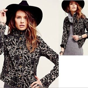 NWT FREE PEOPLE Follow The Flock Victorian Jacquard Jacket
